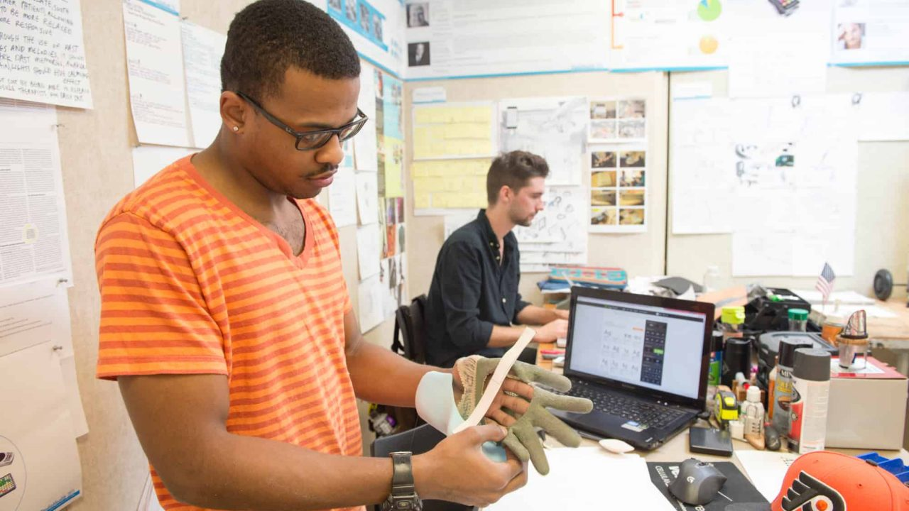 Industrial Design Students working in studio