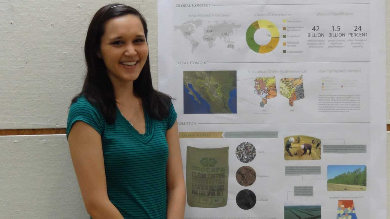 Environmental Design Student wins First Place in Research Week Poster Competition