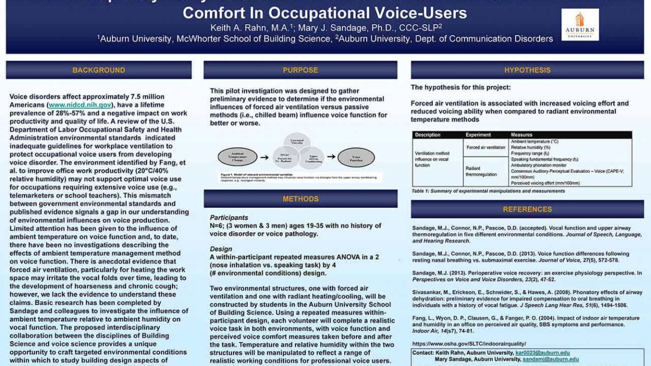 Rahn and Sandage Research Project Wins Best Conference Poster Award