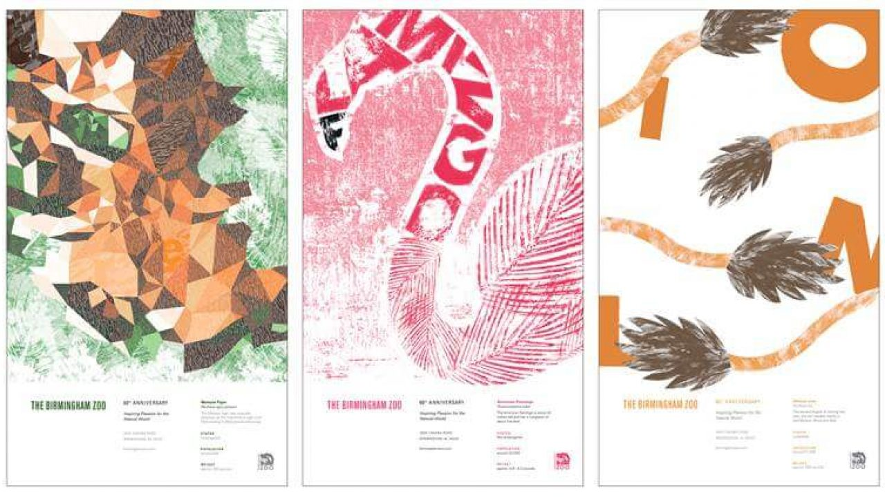 Graphic Design students create posters for Birmingham Zoo 60th Anniversary