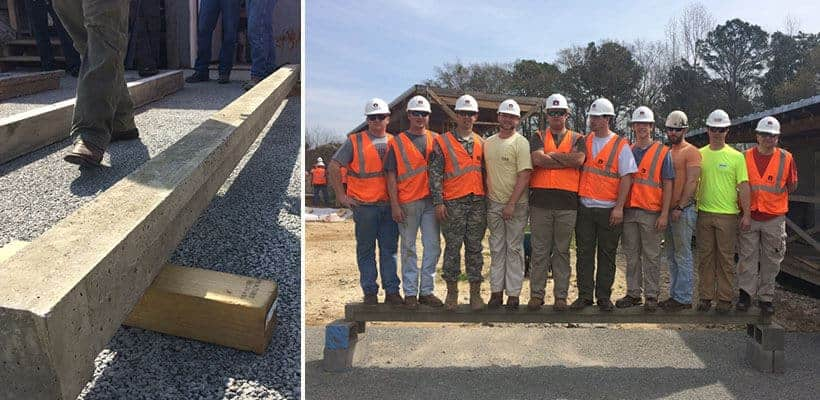 Building Science Students Compete in Concrete Beam Competition