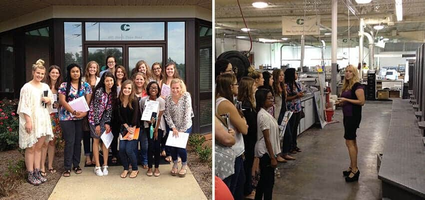 Graphic Design Students Tour Craftmaster Printing