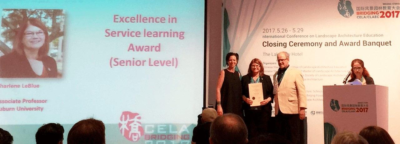 Charlene LeBleu Honored at the Council of Educators in Landscape Architecture Annual Conference