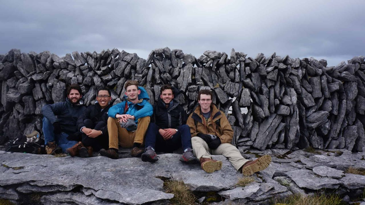 Students on Ireland study abroad experience