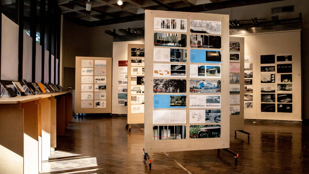 Advanced Portfolio Design Exhibit in Gallery