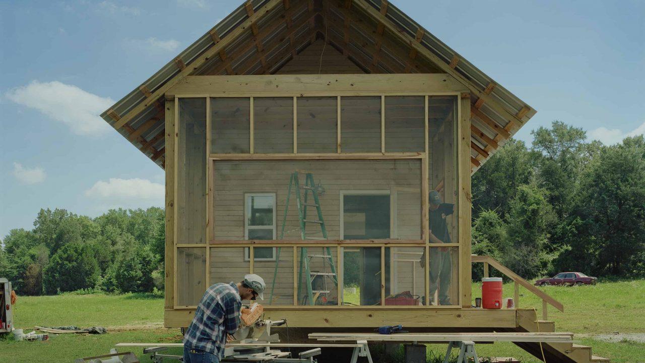 Rural Studio students building 20K Dave's Home.
