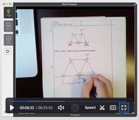 Professor Simons demonstrates how to solve load equations in online clss