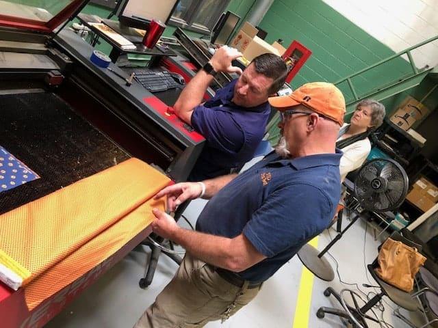 "SIGD Staff ""Problem Solve"" Fabrication Process for Auburn's Face Mask Initiative"