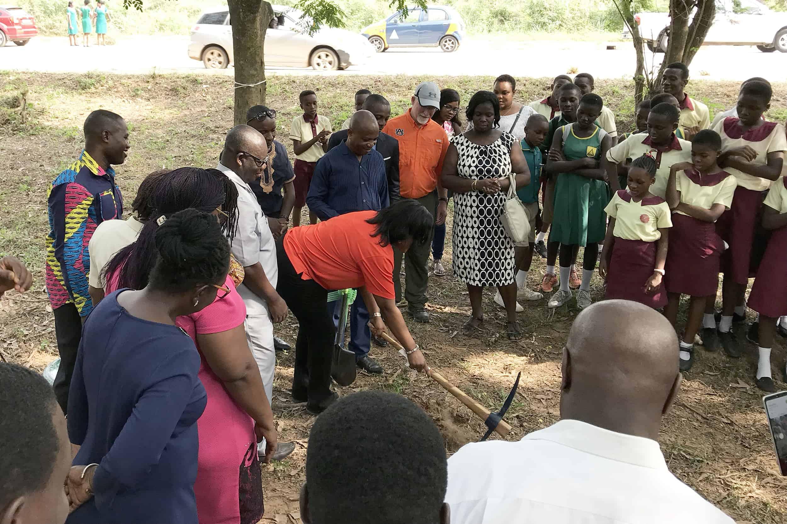 Groundbreaking ceremony for park