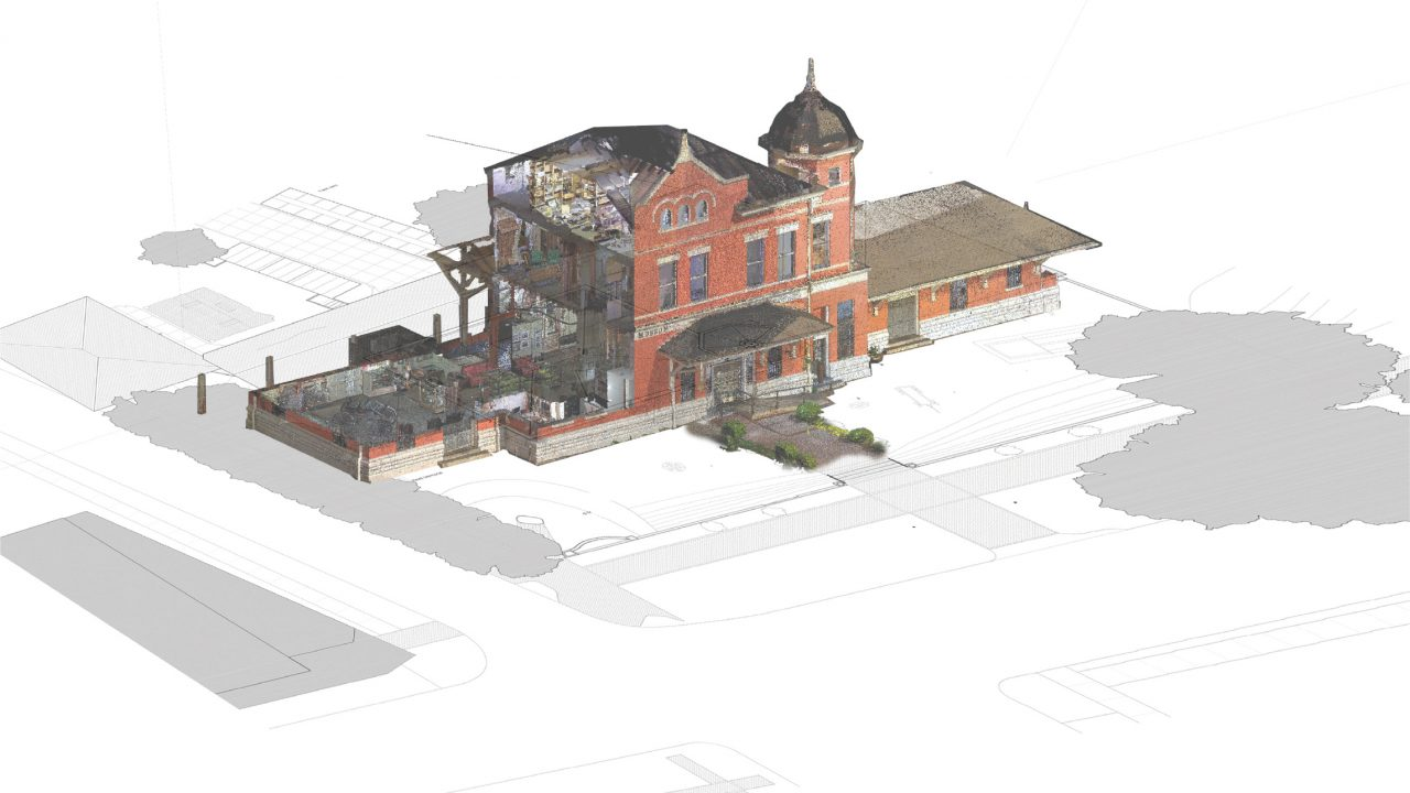 Point cloud image of the Old Depot Museum in Selma, Alabama. (image courtesy of Danielle Willkens)