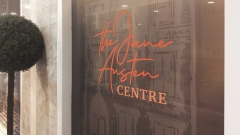 The Jane Austen Centre Window Design by Anna Michelle Livingston