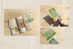 Huntsville Flea Market Collateral, Brochure and Postcard by Anna Porter