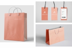 Annie Zhang: Asana Ave Shopping Bags and Tags