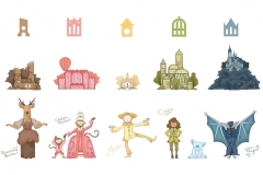 Carson Earls: Eurotopia Land Symbols, Building Illustrations, Character Art.