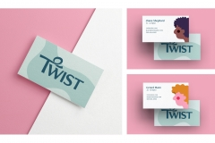 Greer Miceli: Twist Curl Salon Business Cards