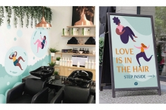 Greer Miceli: Twist Curl Salon Signage