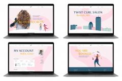 Greer Miceli: Twist Curl Salon Website