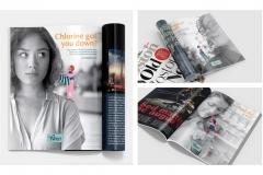 Greer Miceli: Twist Curl Salon Magazine Ads