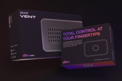 Dōmi Smart Vent and Smart Thermostat Packaging